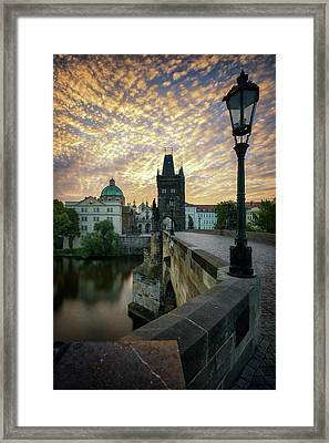 Charles Bridge, Prague, Czech Republic Framed Print