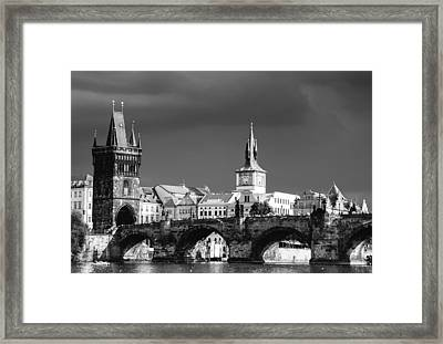 Charles Bridge Prague Czech Republic Framed Print