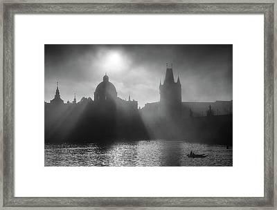 Charles Bridge Towers, Prague, Czech Republic Framed Print