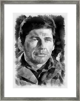 Charles Bronson 1966 Actor Framed Print by Esoterica Art Agency