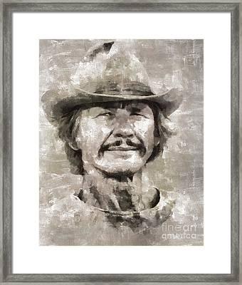 Charles Bronson, Actor Framed Print by Mary Bassett