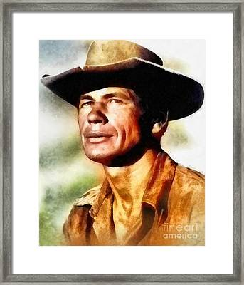 Charles Bronson, Vintage Hollywood Actor Framed Print by Frank Falcon