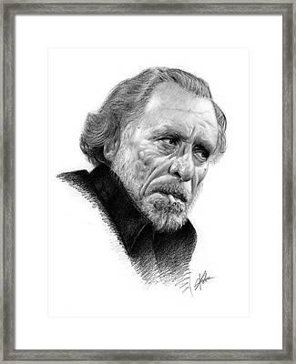 Charles Bukowski 1 Framed Print