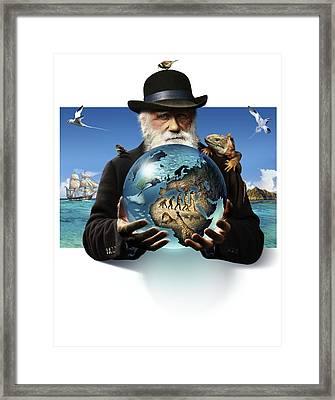 Charles Darwin, British Naturalist Framed Print
