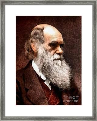 Charles Darwin, Legendary Scientist Framed Print by John Springfield