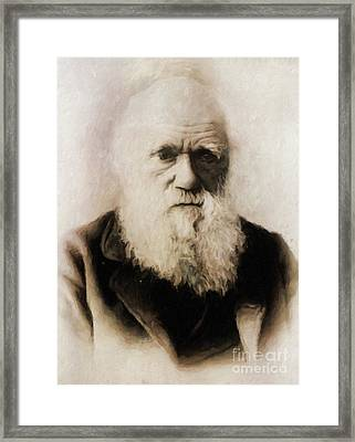 Charles Darwin, Scientist By Mary Bassett Framed Print by Mary Bassett