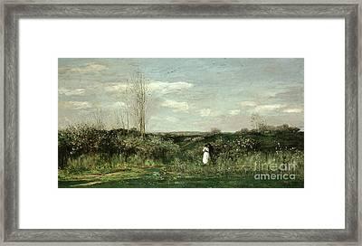 Spring Landscape Framed Print by MotionAge Designs