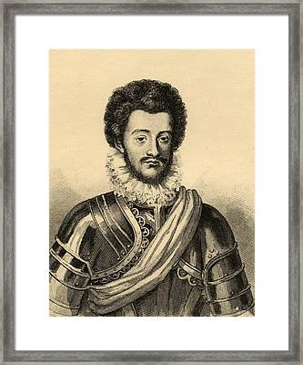 Charles De Guise, Duc De Mayenne Framed Print by Vintage Design Pics