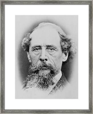Charles Dickens 1812-1870, Portrait Framed Print by Everett