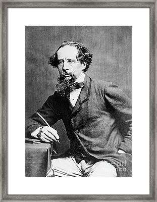 Charles Dickens Framed Print by Herbert Watkins