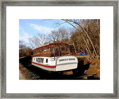 Charles E Mercer Boat - Great Falls Md Framed Print by Fareeha Khawaja