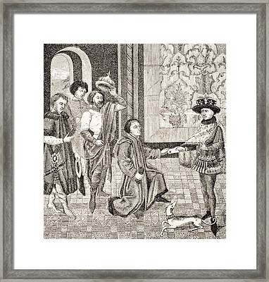 Charles, Eldest Son Of King Pepin Framed Print by Vintage Design Pics
