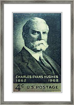 Charles Evans Hughes Framed Print by Lanjee Chee