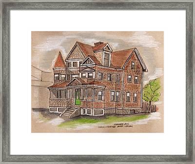 Charles Fairfield House Salem Framed Print