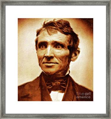 Charles Goodyear, Engineer By Mary Bassett Framed Print by Mary Bassett