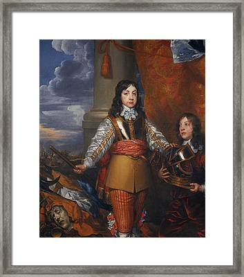 Charles II, 1630 - 1685. King Of Scots 1649 - 1685. King Of England And Ireland 1660 - 1685 Framed Print
