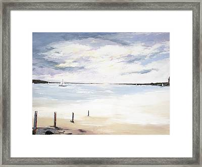 Charles Island At Low Tide Framed Print by Marcia Crispino