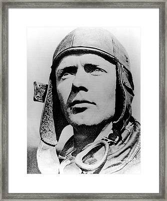 Charles Lindbergh, American Aviator Framed Print by Science Source