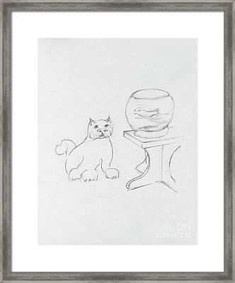 Charles Loves Salmon Framed Print