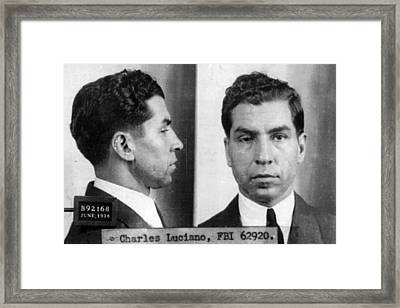 Charles Lucky Luciano Mug Shot 1931 Horizontal Framed Print by Tony Rubino
