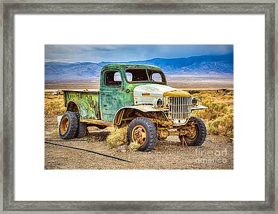 The Charles Manson Forgotten Getaway Truck Framed Print by Mimi Ditchie
