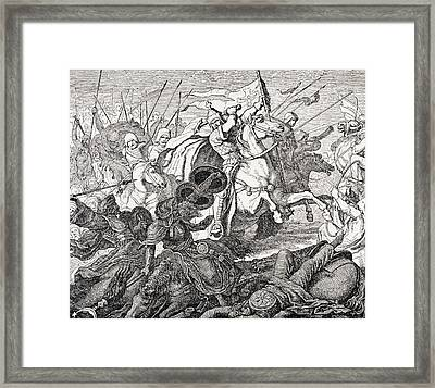 Charles Martel Framed Print by French School