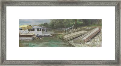 Charles Mill Lake - Boats Framed Print by Terri  Meyer