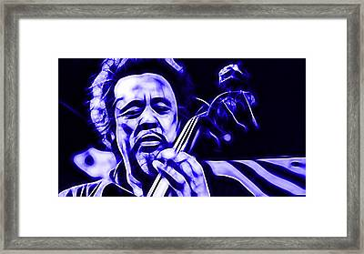 Charles Mingus Collection Framed Print by Marvin Blaine
