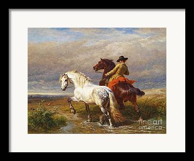 Rider With Hat Framed Prints