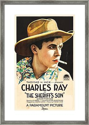 Charles Ray In The Sheriff's Son 1919 Framed Print