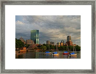 Charles River Boats Esplanade Framed Print by Toby McGuire