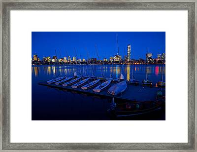 Charles River Boats Framed Print by Toby McGuire