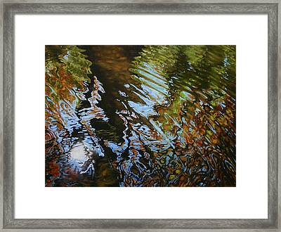 Charles River Reflections Framed Print by Jason Sawtelle