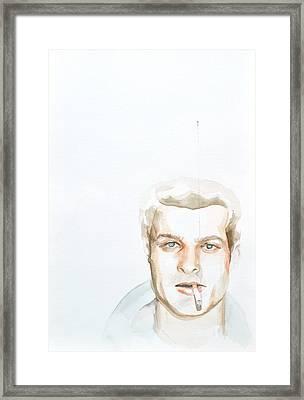 Charles S. Framed Print by Addie Price
