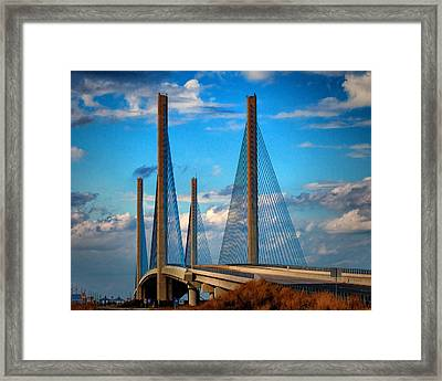 Charles W Cullen Bridge South Approach Framed Print