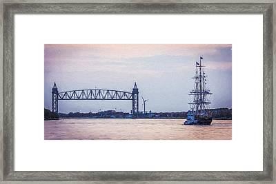 Charles W. Morgan - Railroad Bridge - Painted Framed Print