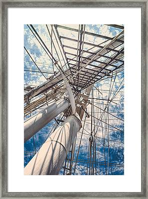Charles W. Morgan - Ropes Pattern Framed Print
