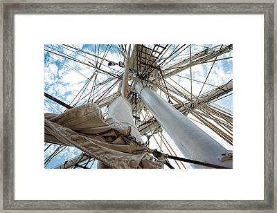 Charles W. Morgan - Up To The Sky Framed Print