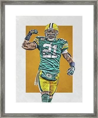 Charles Woodson Green Bay Packers Art Framed Print