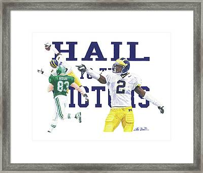 Charles Woodson - The Pick Framed Print