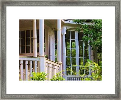 Charleston Architecture. Old Naval Housing Framed Print