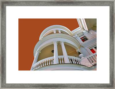 Charleston Architecture Framed Print by Wendy Mogul