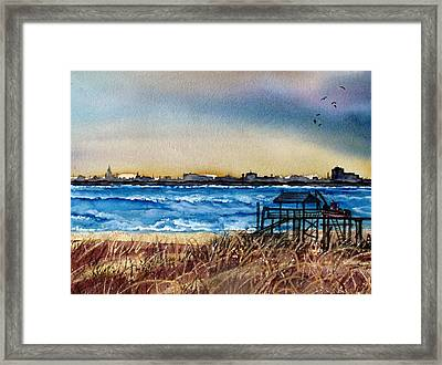 Framed Print featuring the painting Charleston At Sunset by Lil Taylor