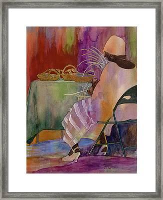Charleston Basket Weaver Framed Print