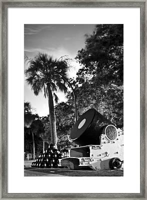 Charleston Battery Mortar  Framed Print