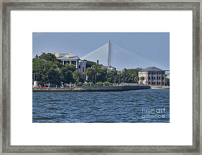 Charleston Battery Row And Bridge  Framed Print by Dustin K Ryan