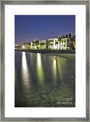 Charleston Battery Row At Dawn Framed Print