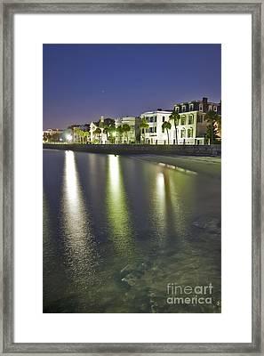 Charleston Battery Row At Dawn Framed Print by Dustin K Ryan