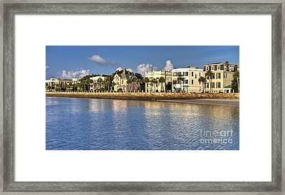 Charleston Battery Row South Carolina  Framed Print