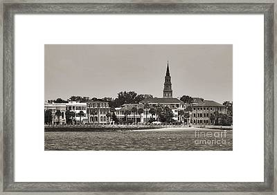 Charleston Battery South Carolina Sepia Framed Print